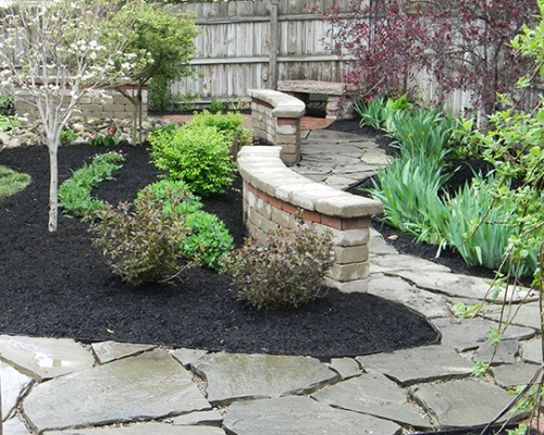 Landscaping with Stone Seating Walls