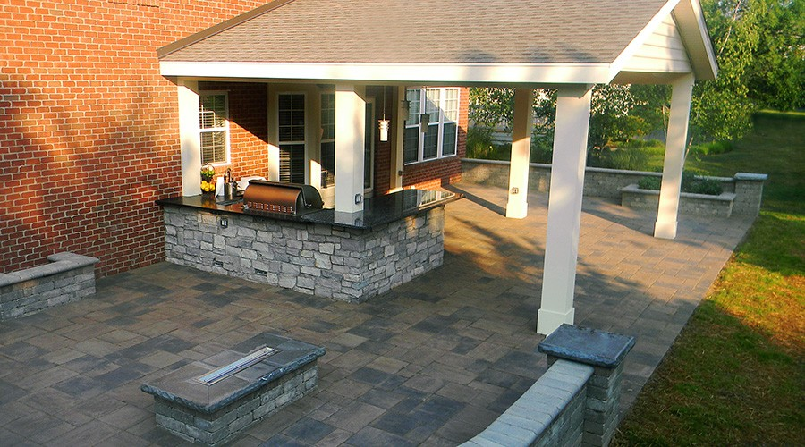 Covered Patio And Roofs   Landscaping Outdoor Kitchens Outdoor Living In  Columbus Ohio
