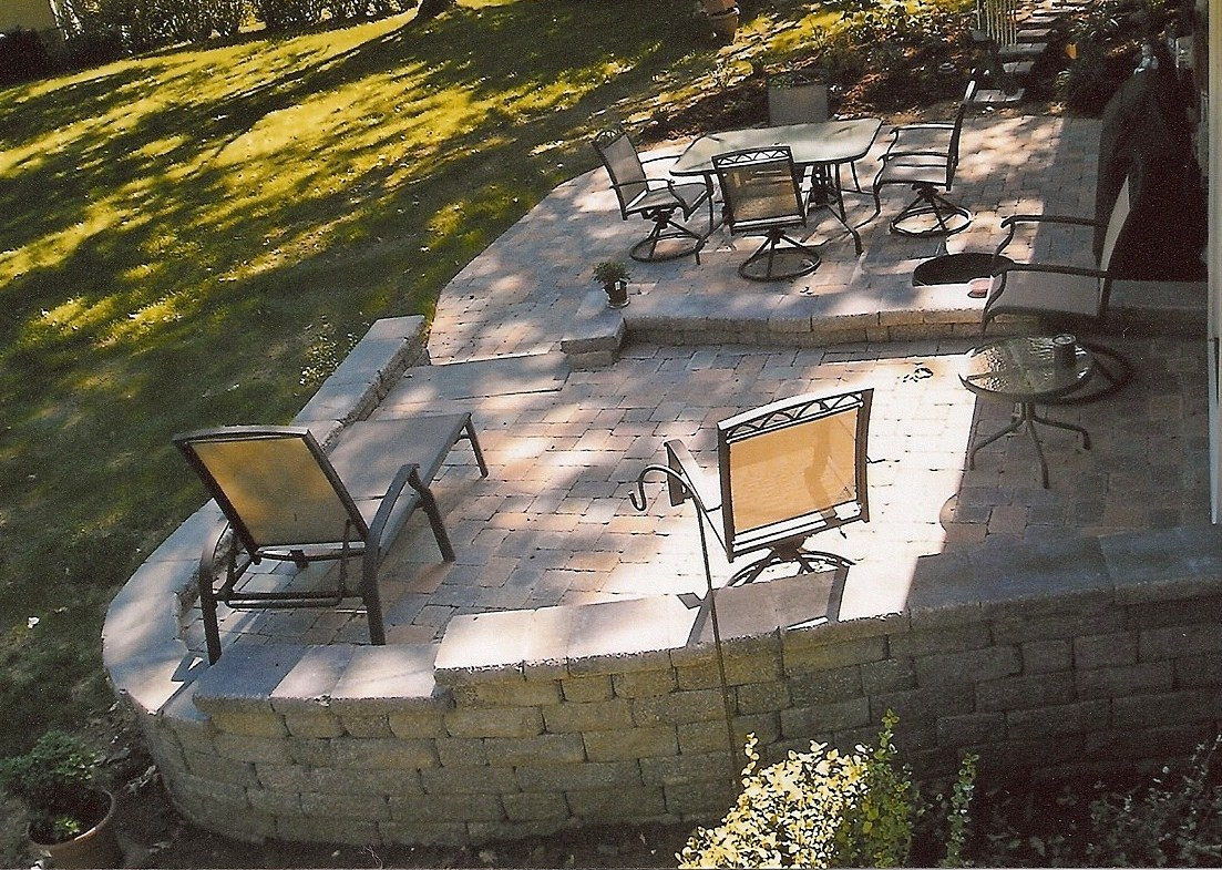 Gahanna, Multi Level Paver Patio