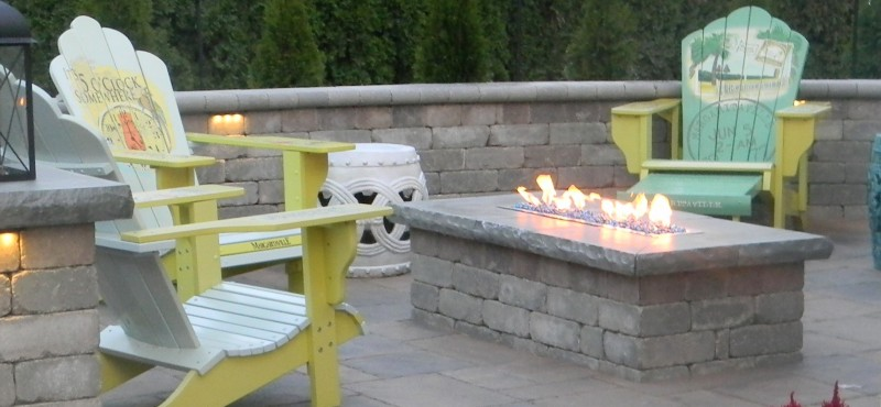 Fire Table on Paver Patio