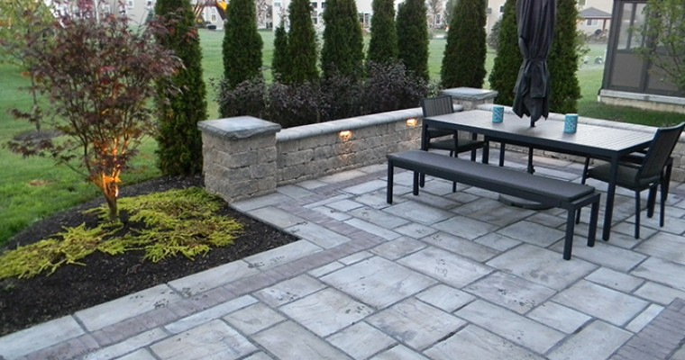 Landscaping Adds Privacy To Custom Paver Patio