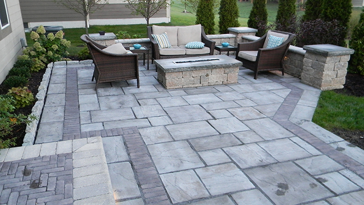 Paver Patio Retaining Wall 02 Columbus Ohio