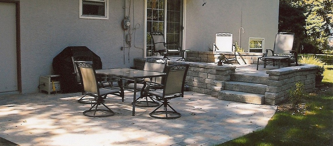 Stone Patio In Gahanna Ohio Landscaping Outdoor Kitchens Outdoor Living In Columbus Ohio