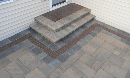 paver stone patio steps