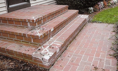 replace old with paver stone patio steps