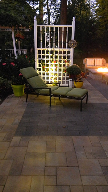 stone patio outdoor lighting