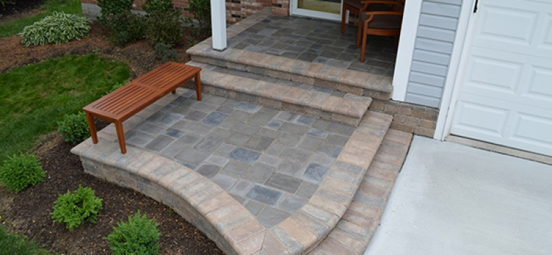 Paver Front Entrance in Gahanna
