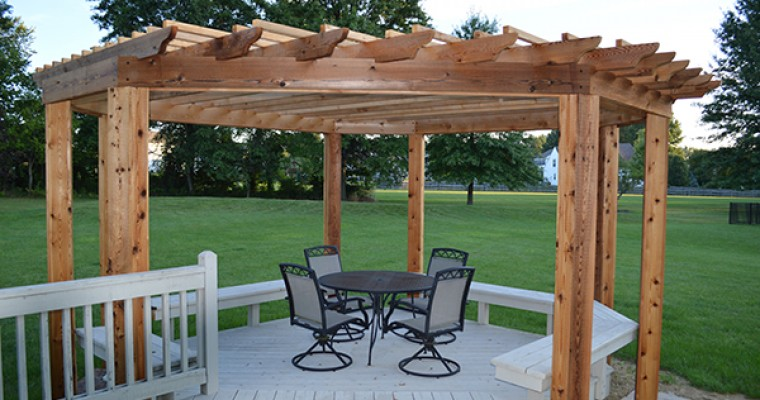 Custom Cedar Pergola in Westerville, Ohio