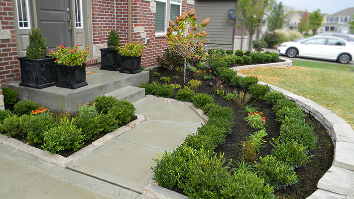 retaining wall and landscaping landscaping outdoor