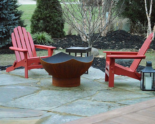 Flagstone Patio and Landscaping