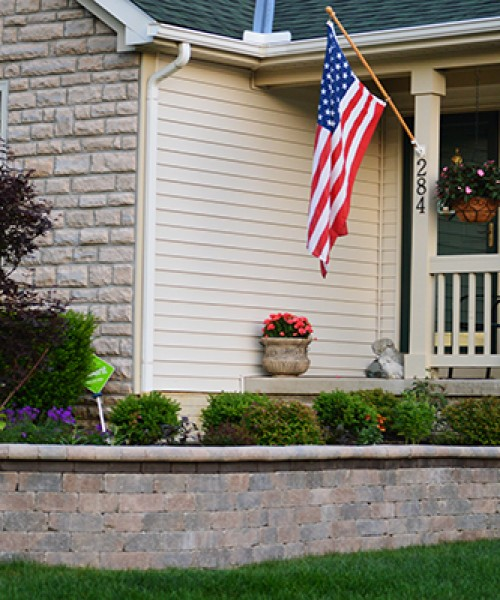 Stone Retaining Wall in Johnston, Ohio