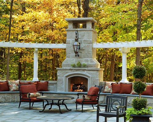 Grand Statement with Outdoor Firelplace