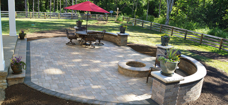 Backyard Patio and Firepit